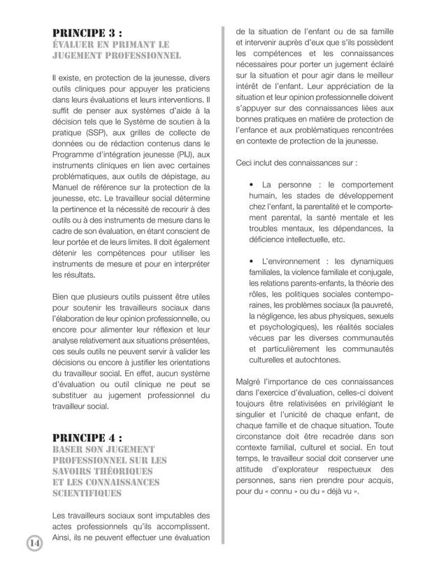 Principe 5 :                                           ConclusionFaire preuve deprofessionnalisme et de                   ...