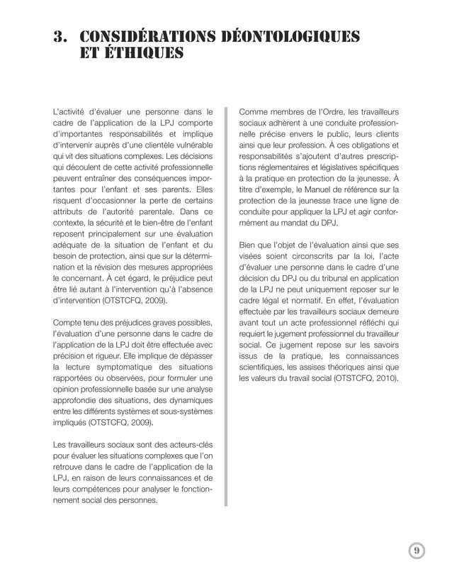 4. L'évaluation selon la marque        distinctive de la profession     La perspective du fonctionnement social dans      ...