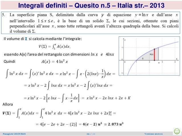 Ligouras mat v esame quesintdef2011 01 for Calcolo superficie