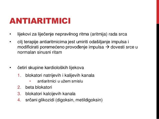 Lijekovi s djelovanjem na srčanu aktivnost Slide 2