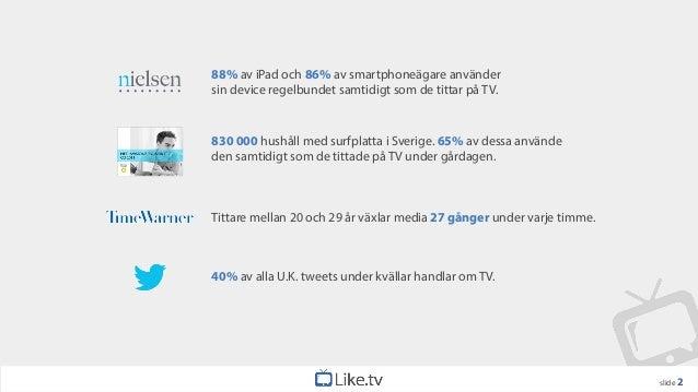 88% av iPad och 86% av smartphoneägare användersin device regelbundet samtidigt som de tittar på TV.830 000 hushåll med su...