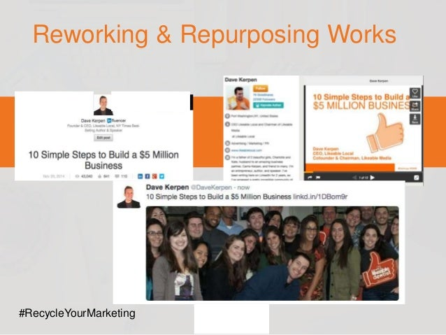 Webinar: How to Repurpose Social Content to Save Time & Maximize Leads Slide 18