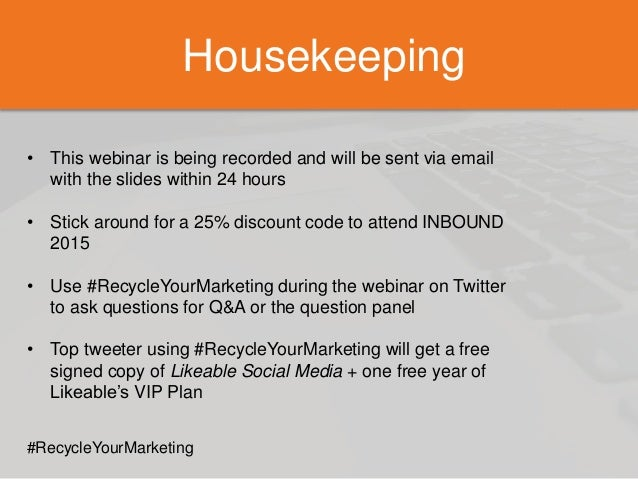 housekeeping  u2022 this webinar is