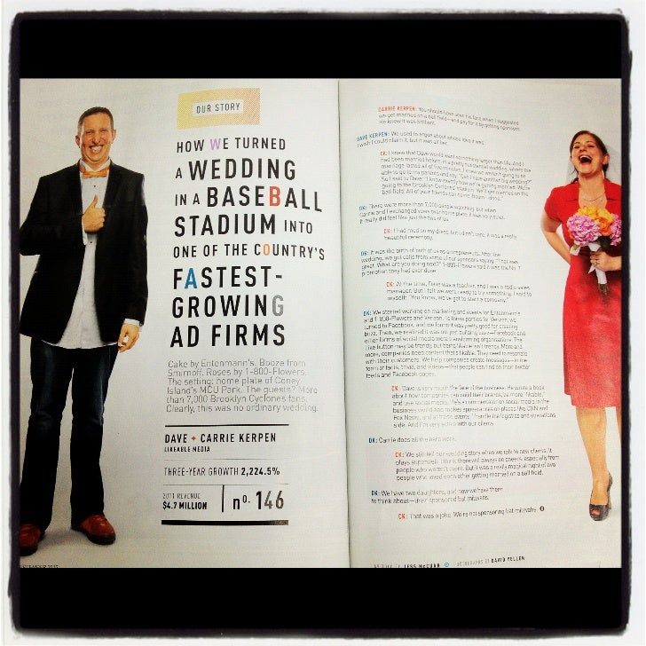 Likeable Media Ranked #146 In The 2012 Inc 500 Fastest Growing Private Companies in the USA