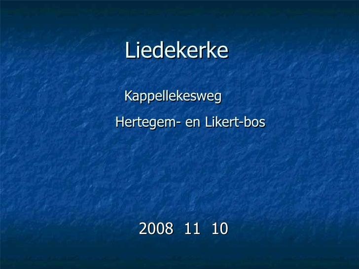 Liedekerke Kappellekesweg     Hertegem- en Likert-bos 2008  11  10