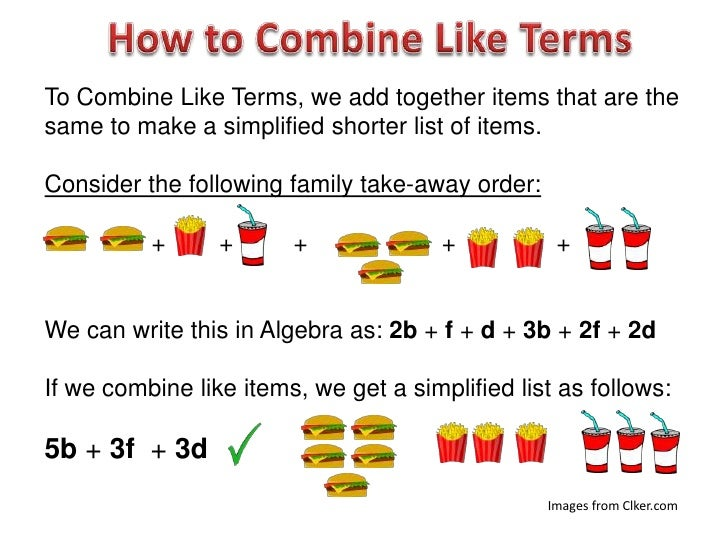 Combining Algebra Like Terms – Combining Like Terms Worksheet 7th Grade
