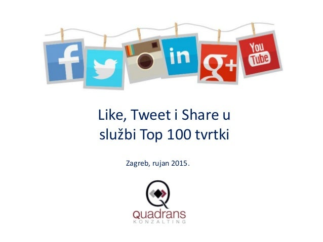 Like, Tweet i Share u službi Top 100 tvrtki Zagreb, rujan 2015.