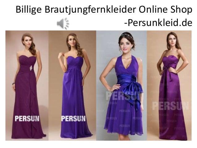 Billige Brautjungfernkleider Online Shop -Persunkleid.de