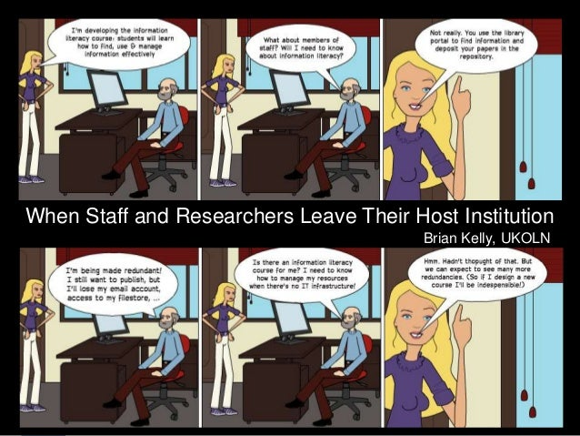 When Staff and Researchers    Leave Their Host Institution    When Staff and Researchers Leave Their Host Institution     ...