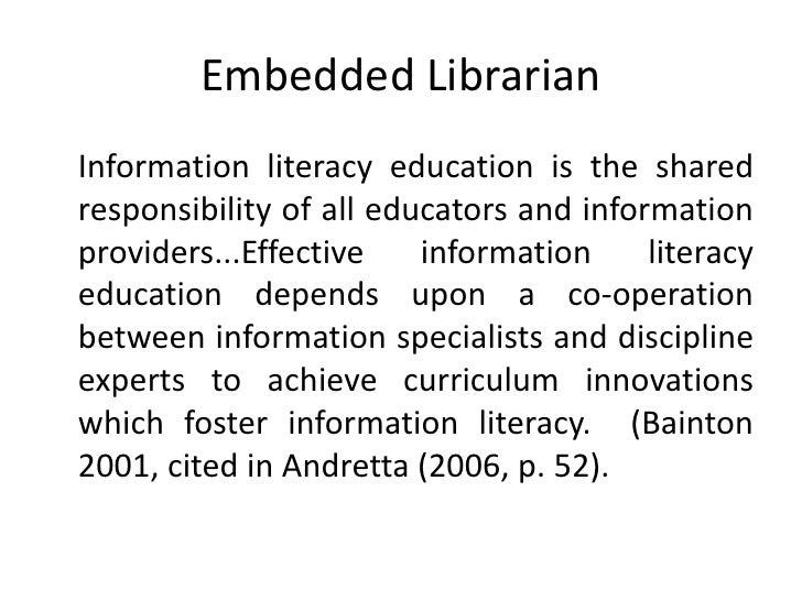 information literacy in education essay
