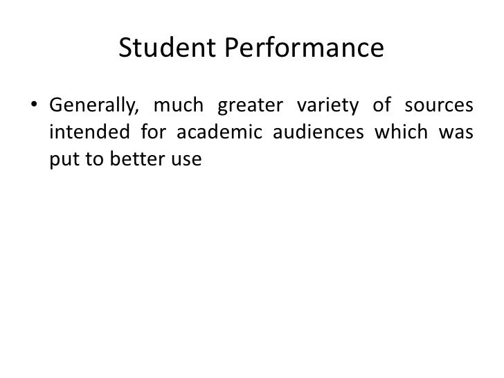 thesis assessment student performance Open document below is an essay on assessment of student performance from anti essays, your source for research papers, essays, and term paper examples.