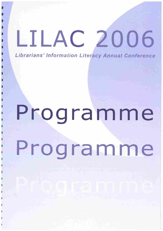 LILAC 2006 Full Programme