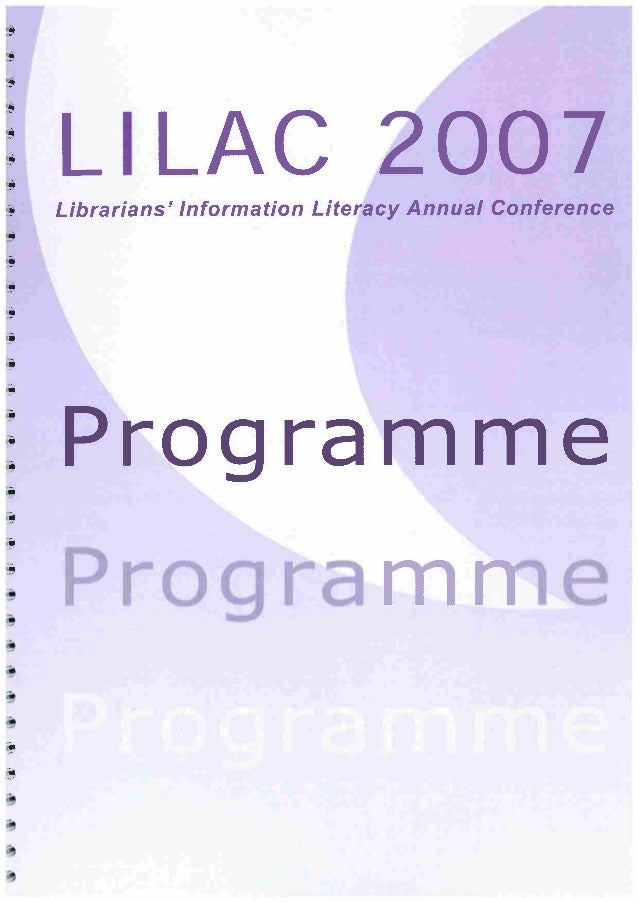 LILAC 2007 Full Programme
