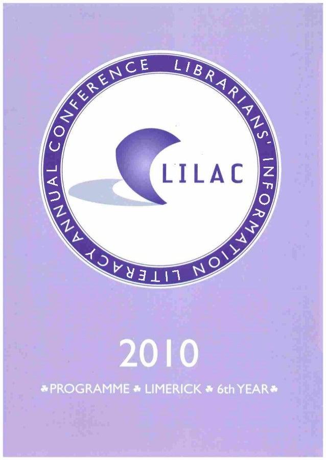 LILAC 2010 Programme