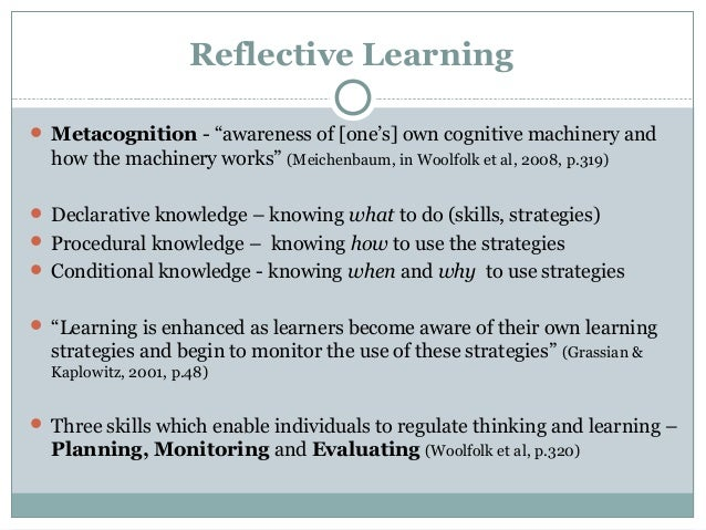 reflective essay on learning and motivation In all honesty, i have never put much thought into my particular learning style however, since i decided to self assessment essay, term paper on learning styles.