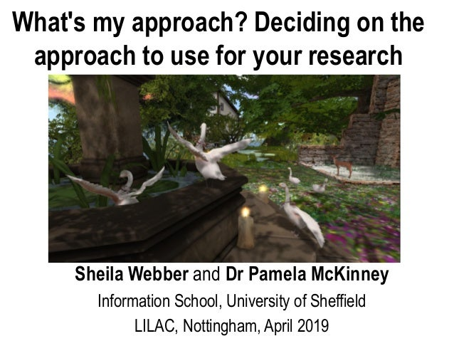 Sheila Webber and Dr Pamela McKinney Information School, University of Sheffield LILAC, Nottingham, April 2019 What's my a...