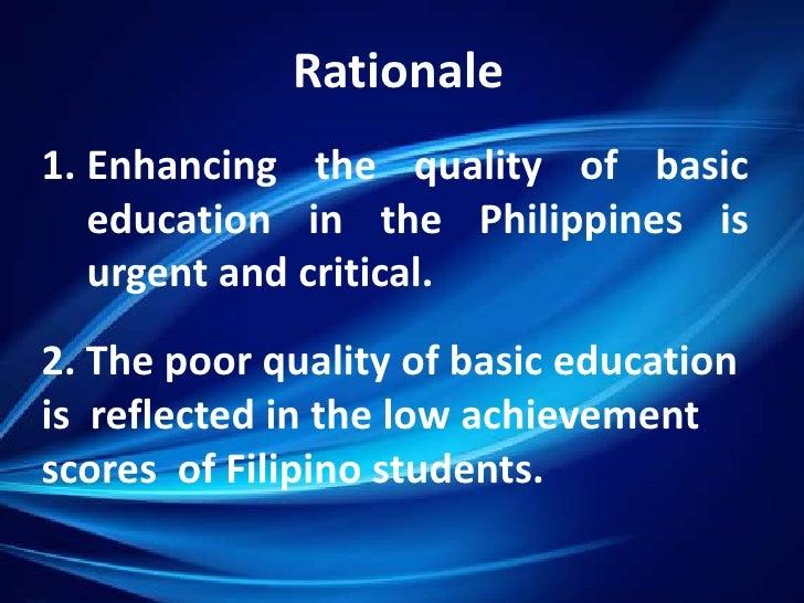 Philippines: National Program Support for Basic Education