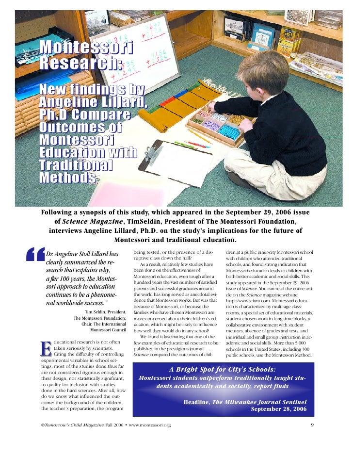Evaluating Montessori Education
