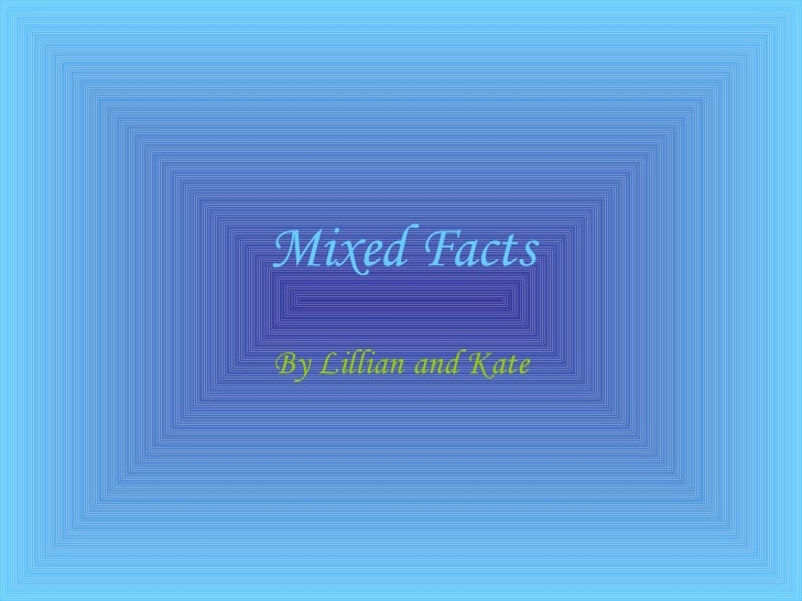 Maths basic facts powerpoint