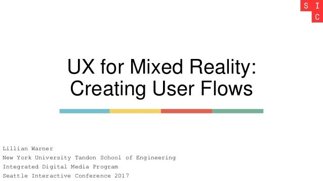UX for Mixed Reality: Creating User Flows Lillian Warner New York University Tandon School of Engineering Integrated Digit...