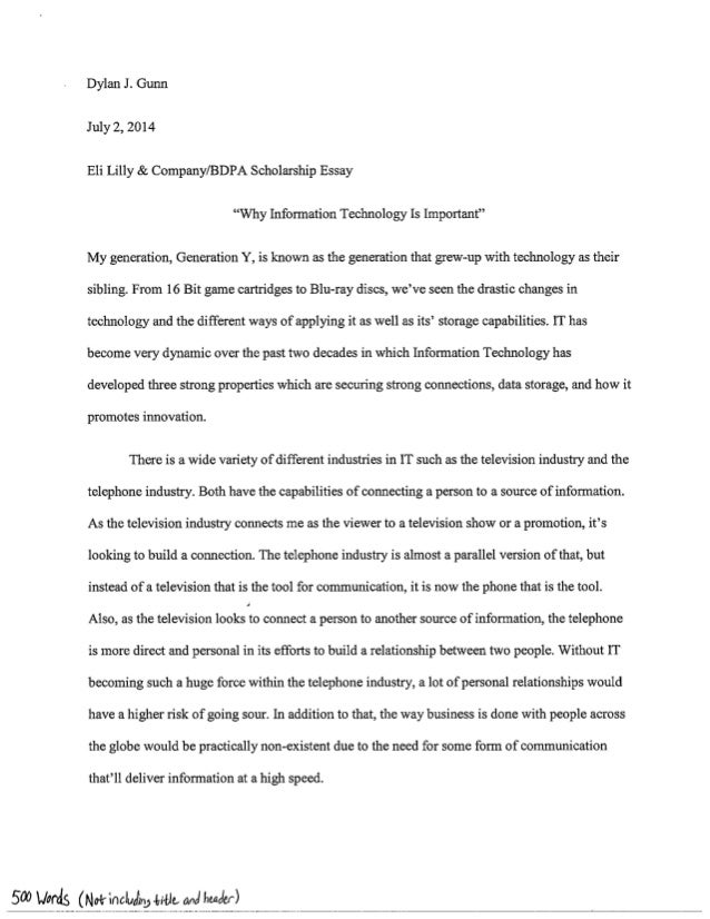 Scholarship essay canada