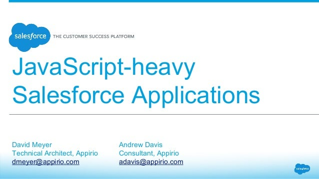 Javascript-heavy Salesforce Applications