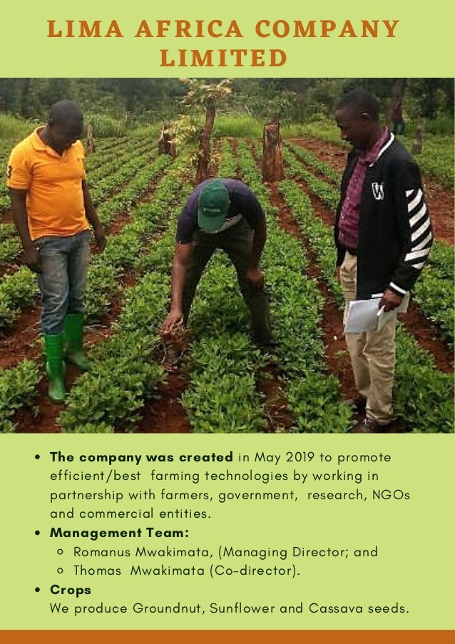 The company was created in May 2019 to promote efficient/best farming technologies by working in partnership with farmers,...