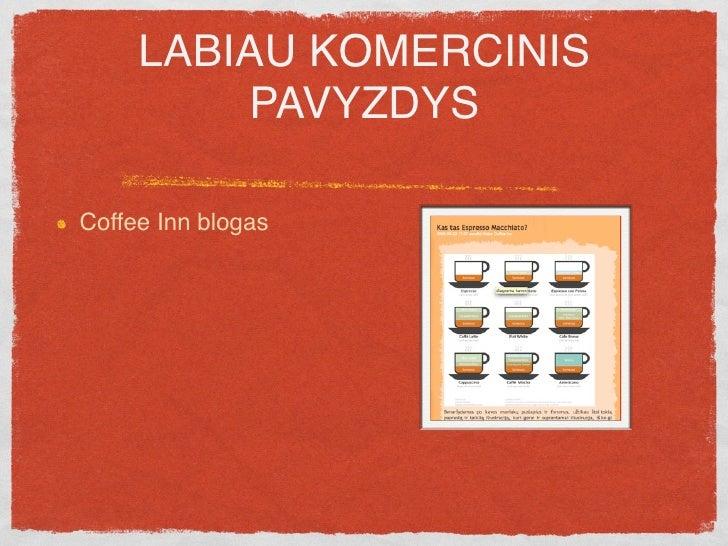 """LABIAU KOMERCINIS          PAVYZDYS  Coffee Inn blogas  Post'as pavadintas """"Kas ta Espresso Macchiato?"""""""