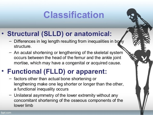 Limb length discrepency.