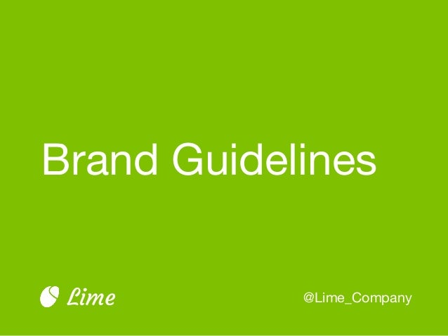 Brand Guidelines @Lime_CompanyLime