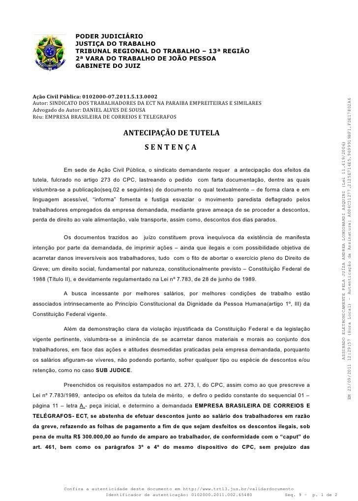 PODER JUDICIÁRIO                JUSTIÇA DO TRABALHO                TRIBUNAL REGIONAL DO TRABALHO – 13ª REGIÃO             ...