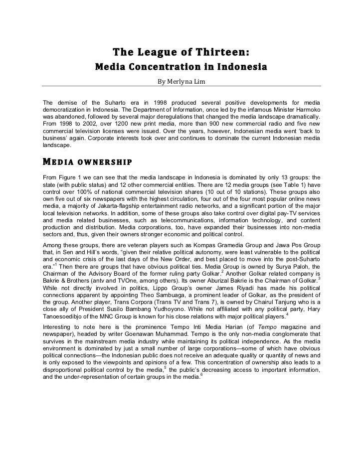 Indonesia Media Coverage