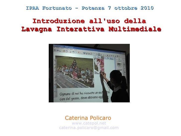 Introduzione all'uso delle LIM in classe