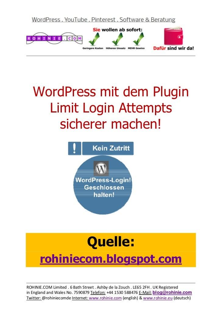 WordPress mit dem Plugin ...
