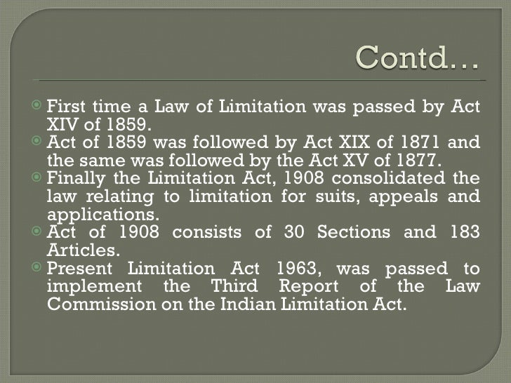 Limitation act