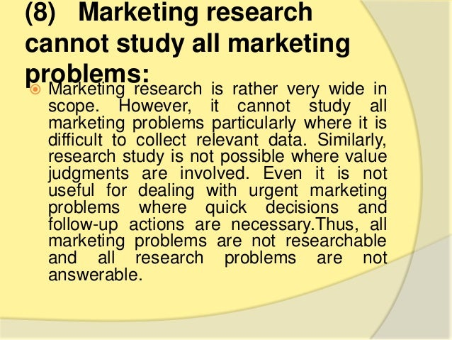 limitations of marketing research