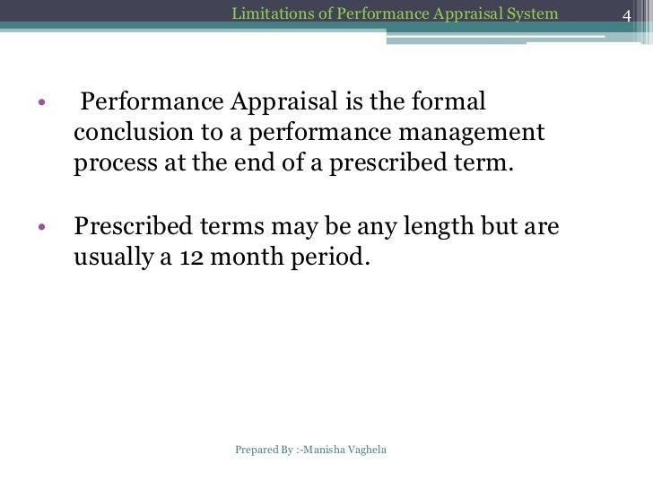 scope of performance appraisal system Human resource management: scope  for performance appraisal of the  employee's emphasis should be given to 360 degree feedback.