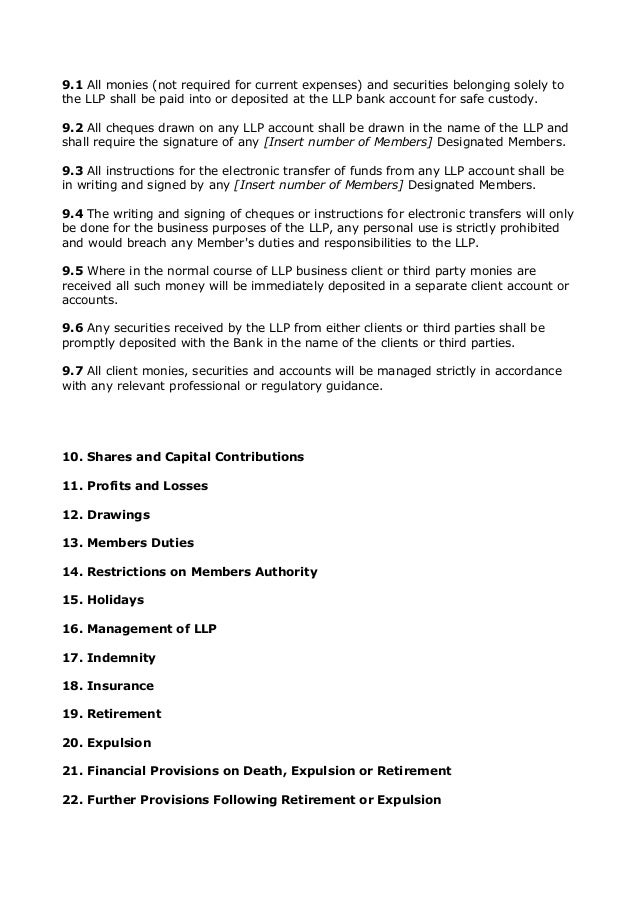 Limited Liability Partnership Agreement