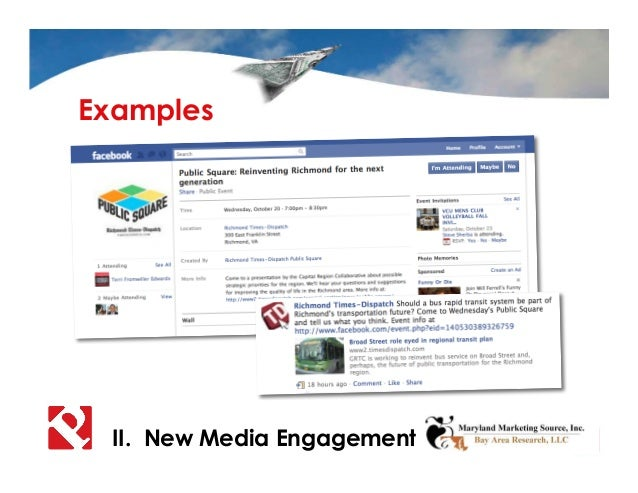 II. New Media Engagement Examples