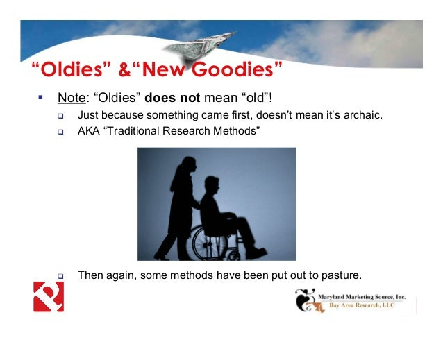 """ Note: """"Oldies"""" does not mean """"old""""!  Just because something came first, doesn't mean it's archaic.  AKA """"Traditional R..."""