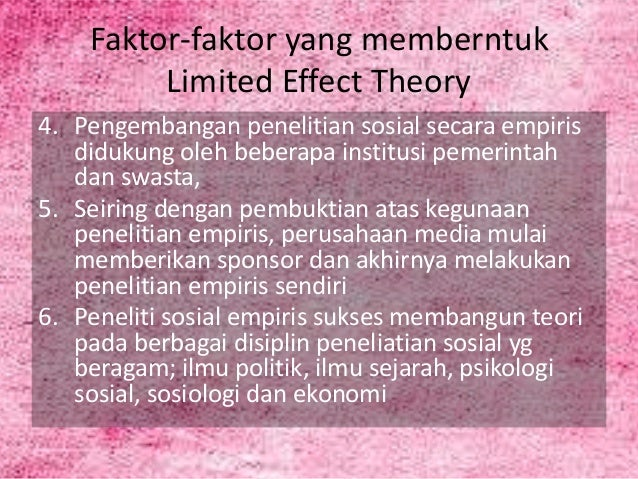 limited effects theory Media effects: theory and research patti m valkenburg,1 jochen peter,1 and joseph b walther2 1amsterdam school of communication research, university of amsterdam, the netherlands  explanations of why media effects are limited when observed in large heterogeneous groups.