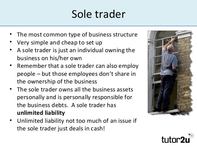sole trader liabilities  Limited Liability
