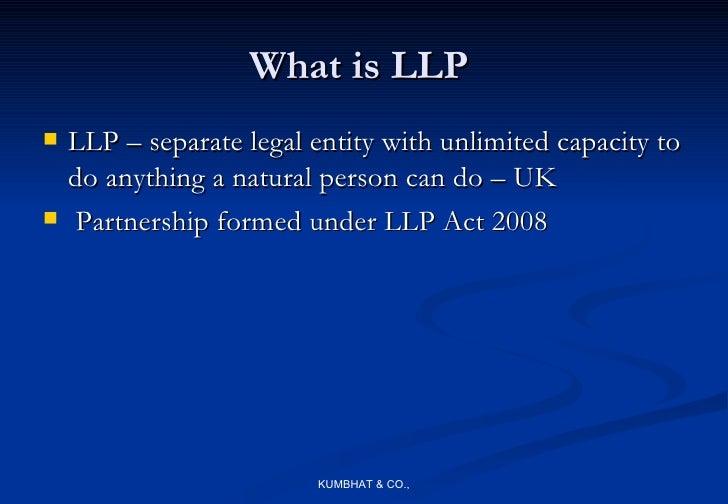 separate legal entity