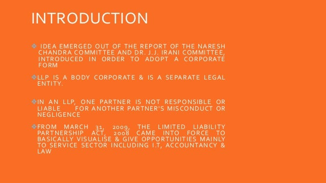 INTRODUCTION  IDEA EMERGED OUT OF THE REPORT OF THE NARESH CHANDRA COMMITTEE AND DR. J.J. IRANI COMMITTEE, INTRODUCED IN ...