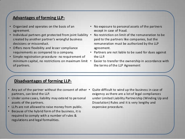 which is true for a limited liability partnership llp