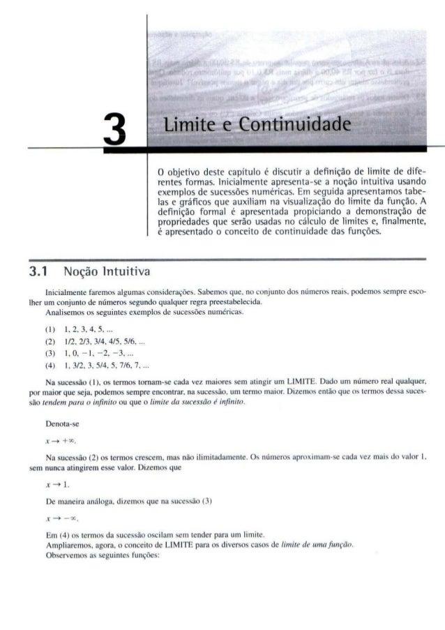 Limite e continuidade