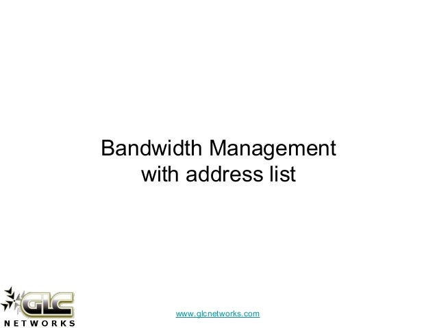 Limiting Bandwidth Of Specific Destination Based On Address List