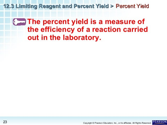 how to find limiting reagent and percent yield