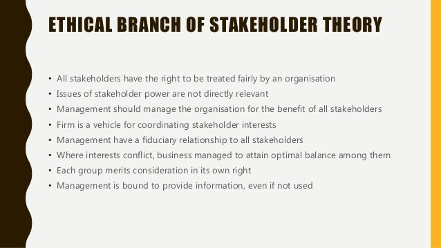 describe the extent to which an organization meets objective of different stakeholder Different stakeholders have different objectives and needs.