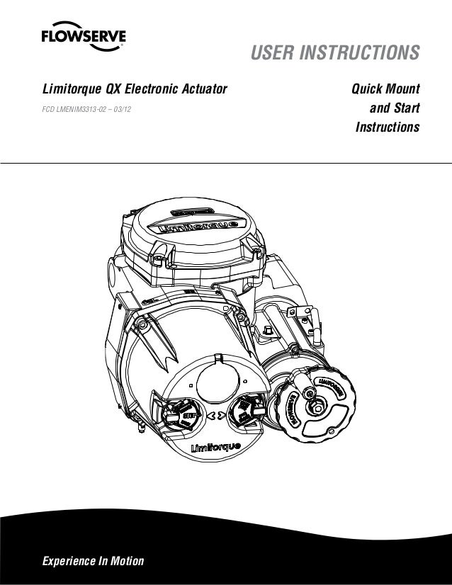 Limitorque QX Electronic Actuator User Instructions